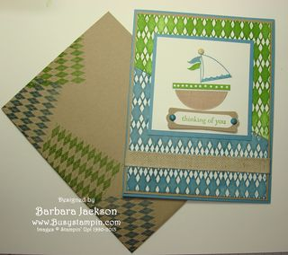Sailboat #12 ~ Card & Envy ready to mail
