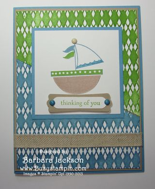 Sailboat #10 ~ Finished card
