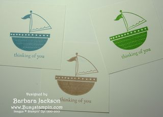 Sailboat #5 ~ Stamp in 3 Colors